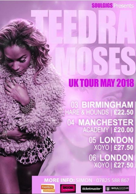 Teedra Moses UK Tour